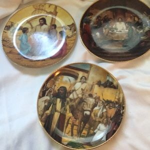 Set of 3 plates by Lou Marchetti